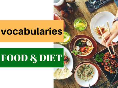 VOCABULARIES TOPIC: FOOD AND DIET, test ielts