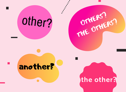 HOW TO DISTINGUISH OTHER/ANOTHER/THE OTHER/THE OTHERS